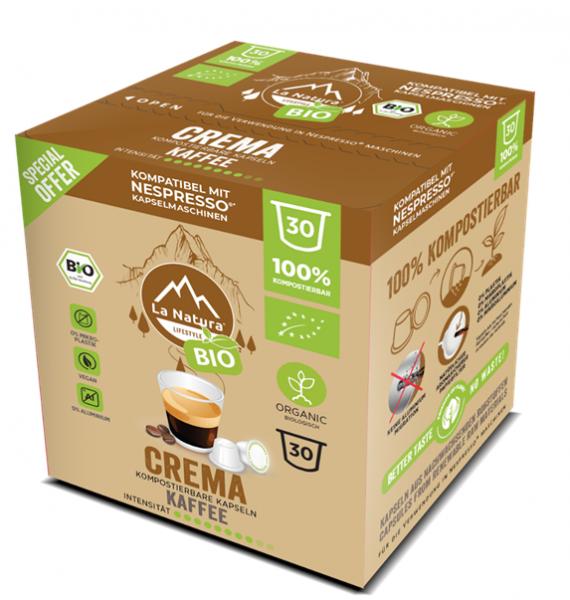 Crema BIO Kaffee 30er Premium BOX - La Natura Lifestyle