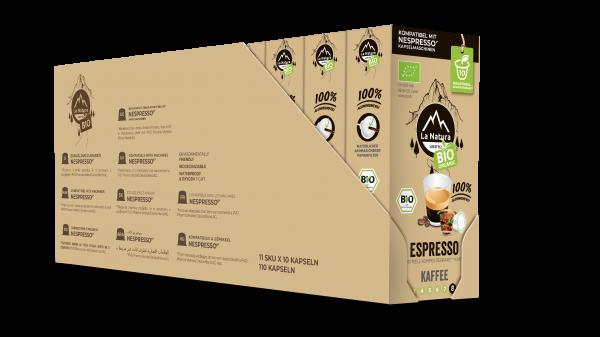 La Natura Lifestyle BIO Espresso - 100er Multipack