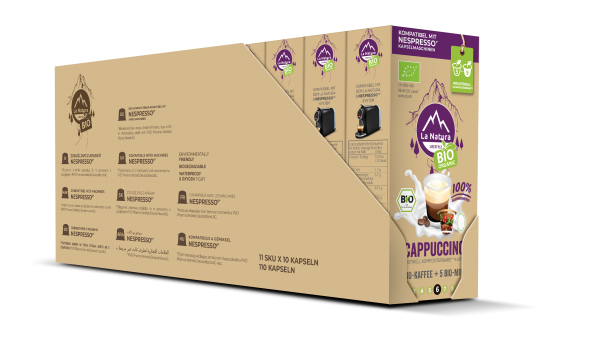 La Natura Lifestyle BIO Cappuccino - 100er Multipack