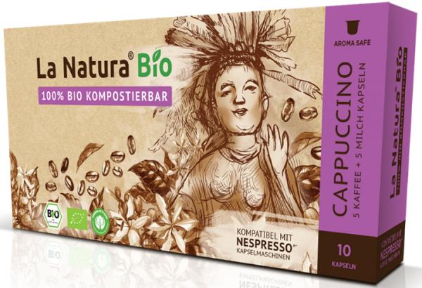 La Natura Lifestyle Premium BIO Cappuccino -10 Kapseln