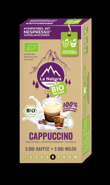 La Natura Lifestyle BIO Cappuccino - 10 Kapseln