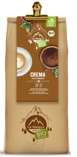 La Natura Lifestyle BIO Kaffee Crema 500g