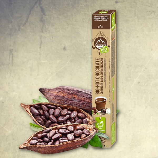 Bio-Hot Chocolate Gourmet Kakao - 10 Kapseln - La Natura Lifestyle