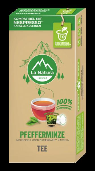 La Natura Lifestyle Pfefferminze Tee - 10 Kapseln