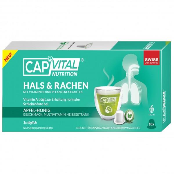CapVital Hals & Rachen - Multivitamin Heissgetränk - Apfel-Honig - 10 Kapseln