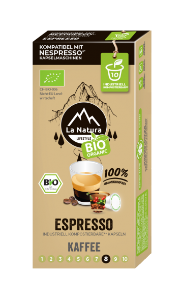 La Natura Lifestyle BIO Espresso - 10 Kapseln
