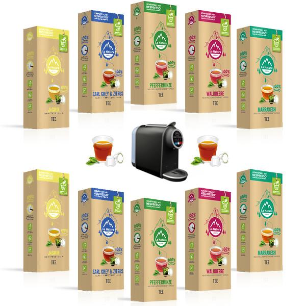 La Natura Lifestyle Tee-Starter Set - 100 Kapseln + SMART Kapselmaschine