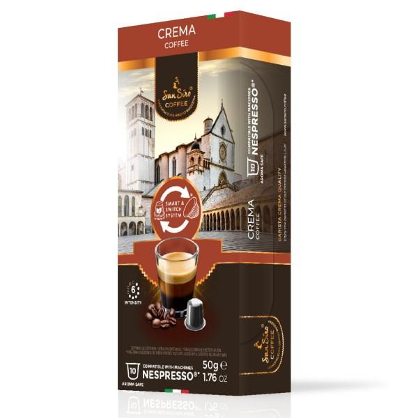 SanSiro Crema - 10 Kaffeekapseln - Nespresso® kompatibel