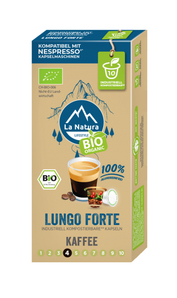 La Natura Lifestyle BIO Lungo Forte - 10 Kapseln