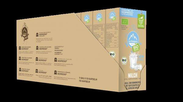La Natura Lifestyle BIO Milch 3,5% - 100er Multipack