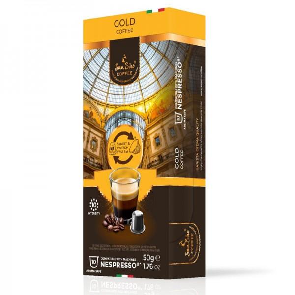 SanSiro Gold - 10 Kaffeekapseln - Nespresso® kompatibel