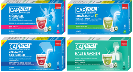 Capvital Anti-Viren Multivitamin Heissgetränk Selection Box mit Vitamin A, B6, B12, C und D