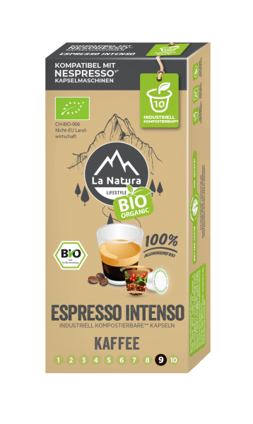 La Natura Lifestyle BIO Espresso Intenso - 10 Kapseln