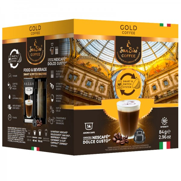 San Siro Gold - 14 Kapseln - Dolce Gusto®* kompatibel