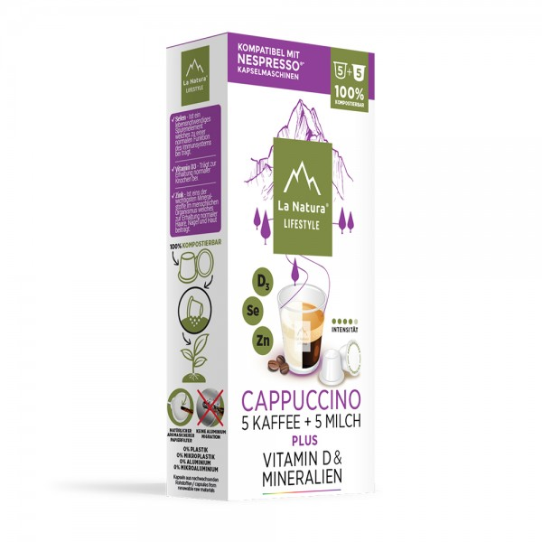 La Natura Lifestyle Cappuccino Plus - 10 Kapseln
