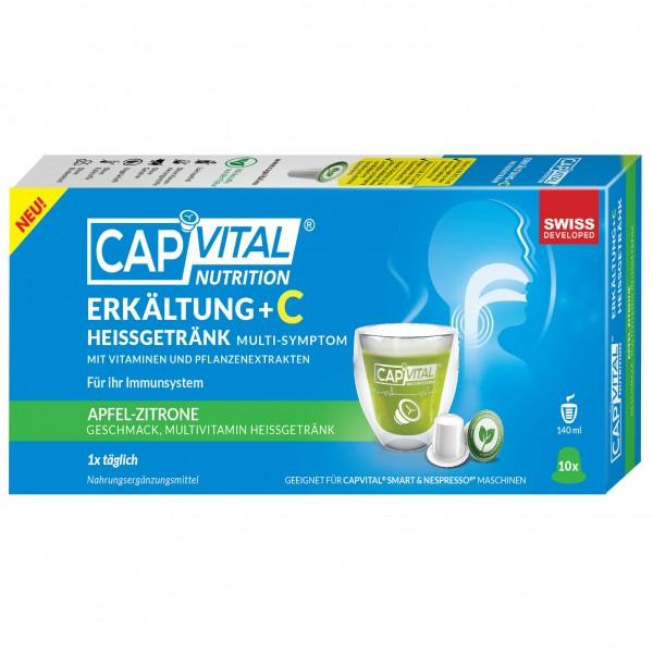 CapVital Erkältung +C - Multivitamin Heissgetränk - Apfel-Zitrone - 10 Kapseln
