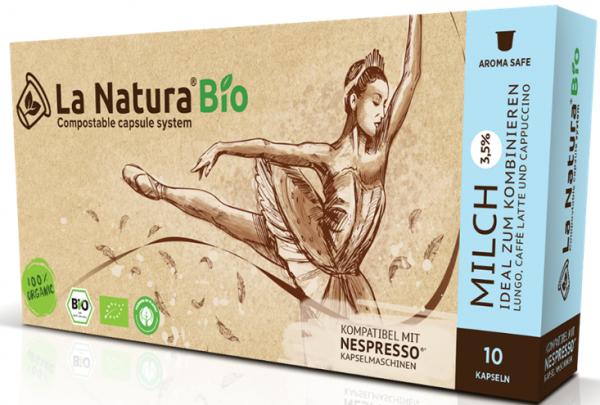 La Natura Lifestyle Premium BIO Milch 3,5% -10 Kapseln