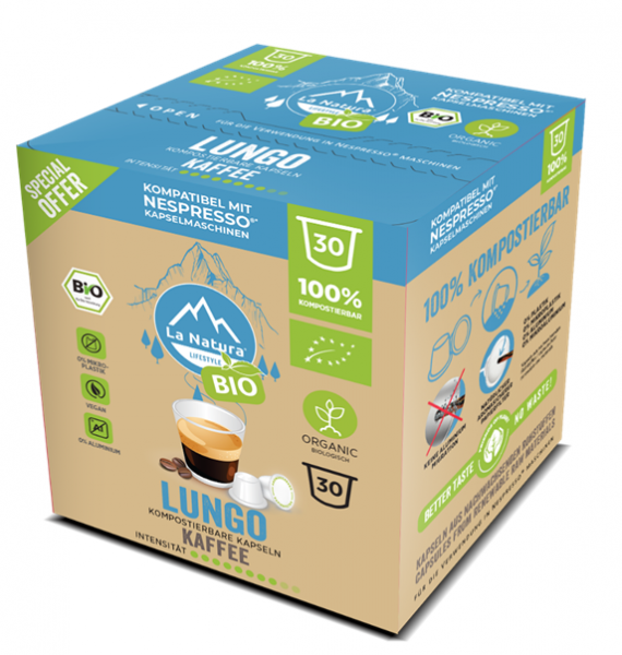 Lungo BIO Kaffee 30er Premium BOX - La Natura Lifestyle