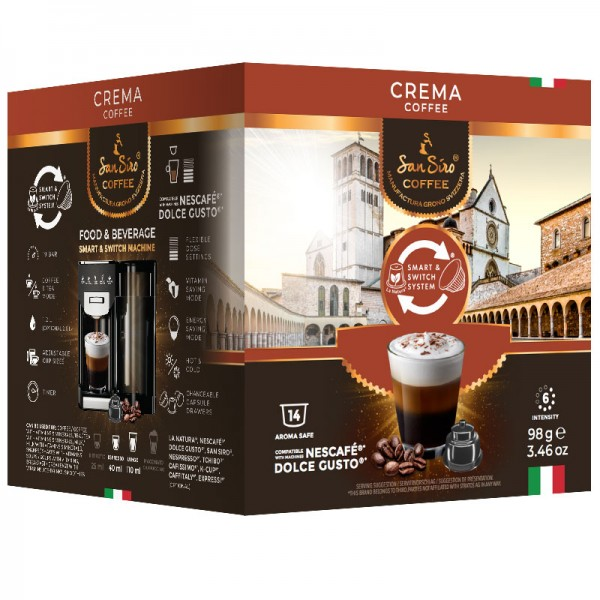 SanSiro Crema 14 Kapseln - Dolce Gusto®* kompatibel