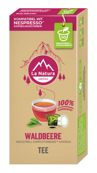 La Natura Lifestyle Waldbeere Tee - 10 Kapseln