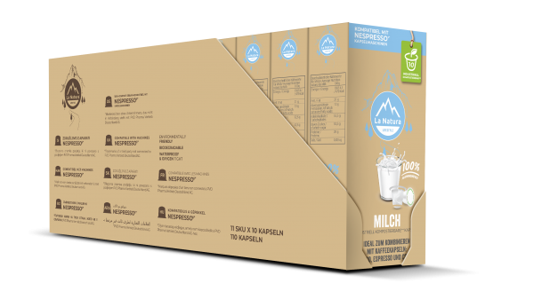 La Natura Lifestyle Milch 3,5% - 100er Multipack
