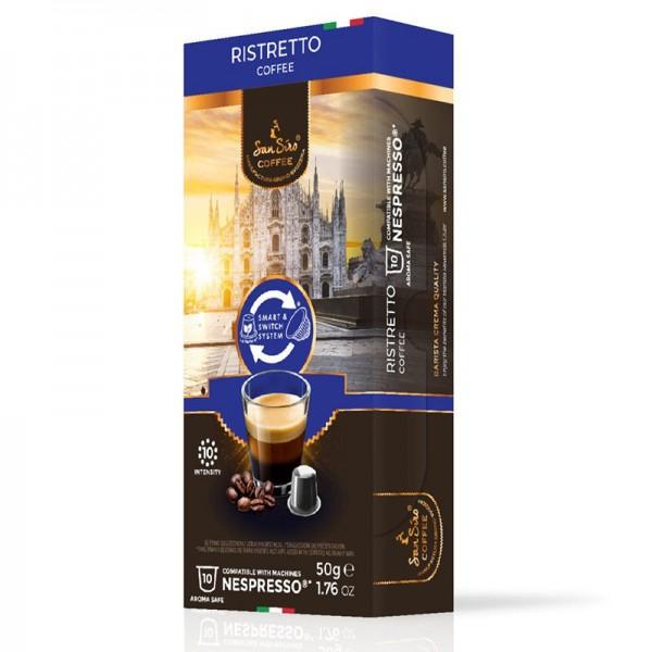 SanSiro Ristretto - 10 Kaffeekapseln - Nespresso® kompatibel