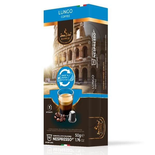 SanSiro Lungo - 10 Kaffeekapseln - Nespresso® kompatibel