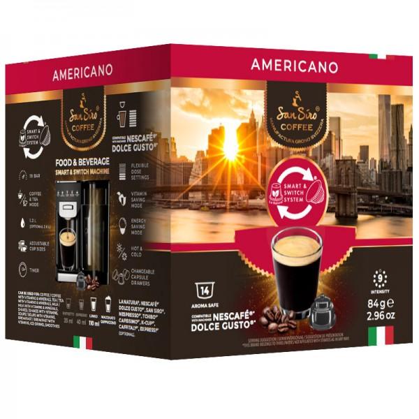 SanSiro Americano 14 Kapseln - Dolce Gusto®* kompatibel