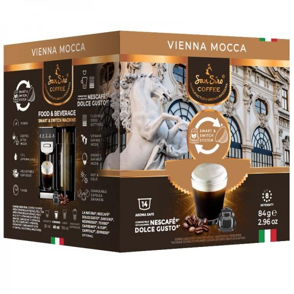 SanSiro Vienna Mocca 14 Kapseln - Dolce Gusto®* kompatibel