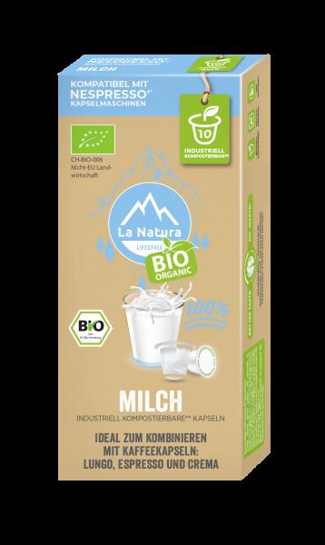 La Natura Lifestyle BIO Milch 3,5% - 10 Kapseln