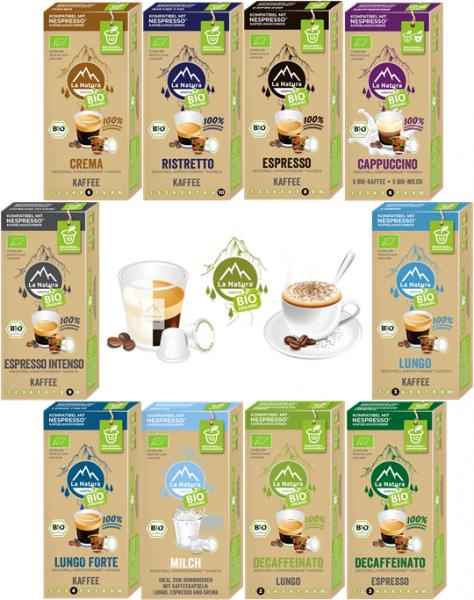 La Natura Lifestyle BIO Kaffee-Geniesser Set - 100 Kaffeekapseln