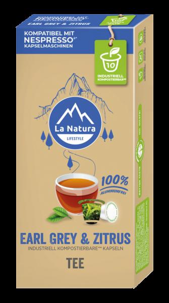 La Natura Lifestyle Earl Grey & Zitrus Tee - 10 Kapseln