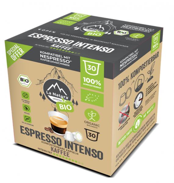Espresso Intenso BIO Kaffee 30er Premium BOX - La Natura Lifestyle