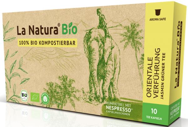 La Natura Lifestyle Premium BIO Jasmin Tee -10 Kapseln