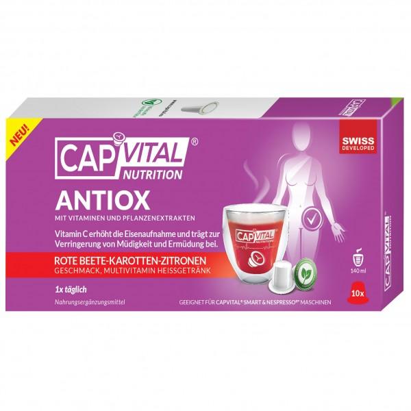 CapVital Antiox - Multivitamin Heissgetränk - Rote Beete-Karotte-Zitrone - 10 Getränkekapseln