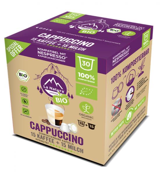 Cappuccino BIO Kaffee 30er Premium BOX - La Natura Lifestyle