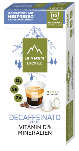 La Natura Lifestyle Decaffeinato Plus - 10 Kapseln